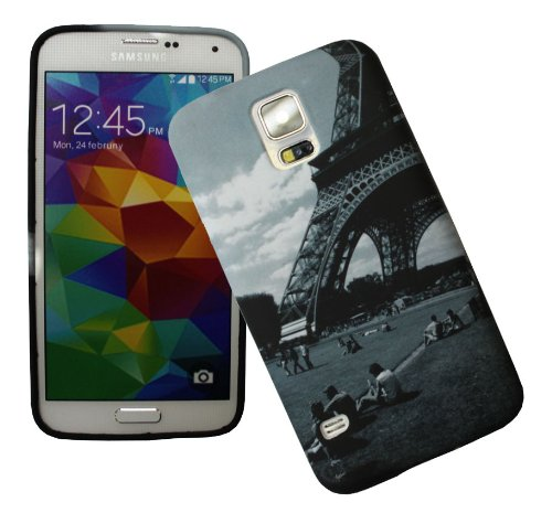 Accessory Master 5055716384741 Paris toren met tuin hard beschermhoes voor Samsung Galaxy S5 G900f/G900h