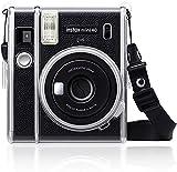 Fintie Funda para cámara instantánea Fujifilm Instax Mini 40, de PVC, rígida, con correa de arco iris desmontable, transparente