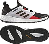 adidas outdoor Terrex Speed Ld Mens Trail Running Shoe Black/Black/Active Red, Size 12