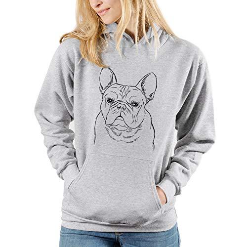 Bare Fudge The French Bulldog Dog Unisex Pullover Hoodie Sweatshirt 3XL Grey