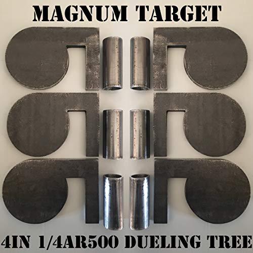 4' x 1/4' AR500 Steel Shooting Range Targets Dueling Trees Metal Paddles w/Tubes
