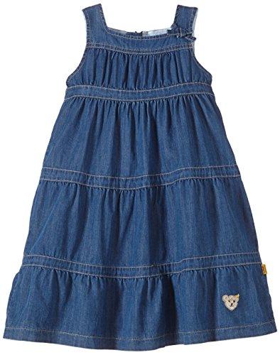 Steiff Baby - Mädchen Kleid Ärmellos 6433328, Einfarbig, Gr. 92, Blau (Light Blue Denim Blue)