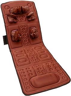 Vibrador Magnético Silla De Masaje Colchón Terapia Cervical Cuello Hombro Espalda Cintura Relajación Cama Cojín,Rojo