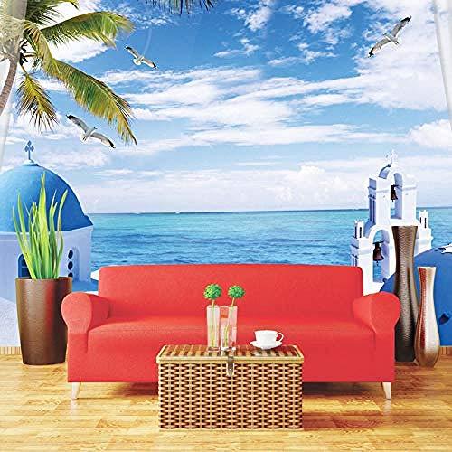 Sofá Fondo Papel de pared Gran mural 3D TV Dormitorio Fondo Pared Sala de estar china Cine y televisión papel pintado pared dormitorio de estar sala de estar fondo No tejido-400cm×280cm