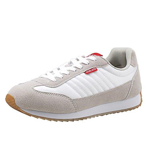 Shenji - Zapatillas Unisex Adulto,Zapatillas para Hombre & Mujer M7555 Blanco 43