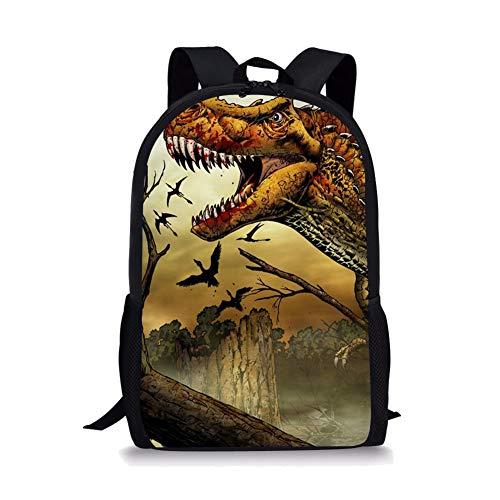 POLERO Mochila para niños, diseño de Dinosaurio con Estampado de Animales, para niñas y niños Bloody Mouth T-Rex 44x28x13cm