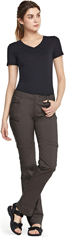 CQR Women's Convertible Hiking Pants, Lightweight Stretch Quick Dry Zip Off Pants, Outdoor Trekking Fishing Safari Pants : Clothing