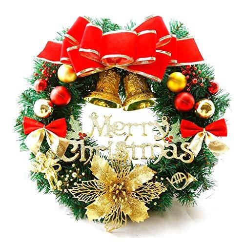 Kerstdecoratie Krans 30cm Kerstkrans Deur Hangende Vine Ring Multicolor 30cm-001