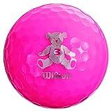 Wilson(ウイルソン) ゴルフボール BEAR3 1ダース(12個入り) ピンク