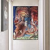 wojinbao Arte Moderno de Pared de lonaIdea Surrealista Salvador Dali Figura Paisaje Oleo ng Cuadro e...