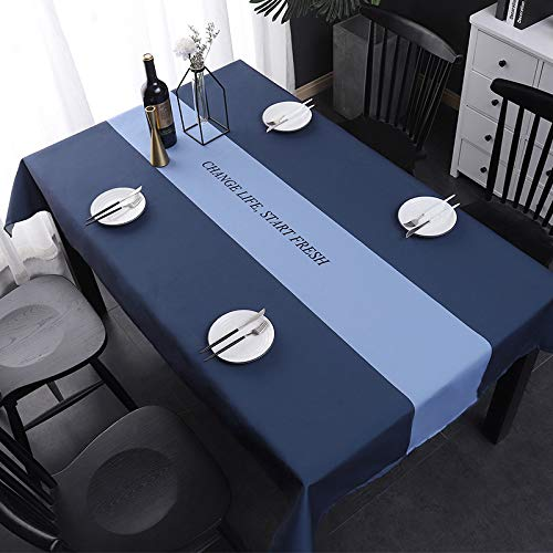 HTUO Wipe Clean Tablecloth Christmas Decoration Extra Large Easy Care Rectangular Fabric Tablecloth Rectangle Table Cover Great Kitchen Dinning Tabletop Buffet Decoration 140 * 180cm