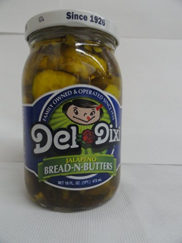 Del-Dixi Jalapeno Bread-N-Butters Pickles, 16 Ounce