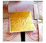 Blattgold Reinheit 999/1000 24 Karat essbar, Lot von 20