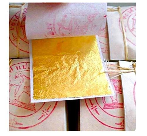 20 hojas de hojas de pan de oro - 999/1000 purety - 24 quilates - oro