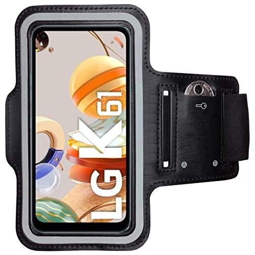 CoverKingz Brazalete deportivo para LG K61, con compartimento para llaves, LG K61, color negro