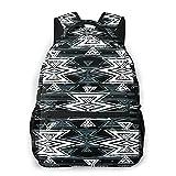 Ocio mochila Mini Bolsas, colorido y negro Negro tribal de Navajo azteca abstracto geométrico étnico inconformista Diseño All Seasons unisex de gran capacidad durable de escuela al aire libre diario