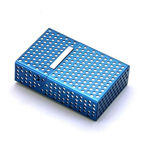 GXYAWPJ Estuche De Metal para Cigarrillos, Azul,...