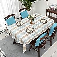 柄のテーブルクロス綿リネンテーブルクロス洗えるスクエアグレーグリッド防塵テーブルカバー用キッチンダイニングテーブル装飾,120*120