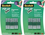 Scotch Pop-Up Tape Refills, 3/4 x 2 Inches, 75 Strips/Pad, 3 Pads/Pack (99-G) Pack of 2