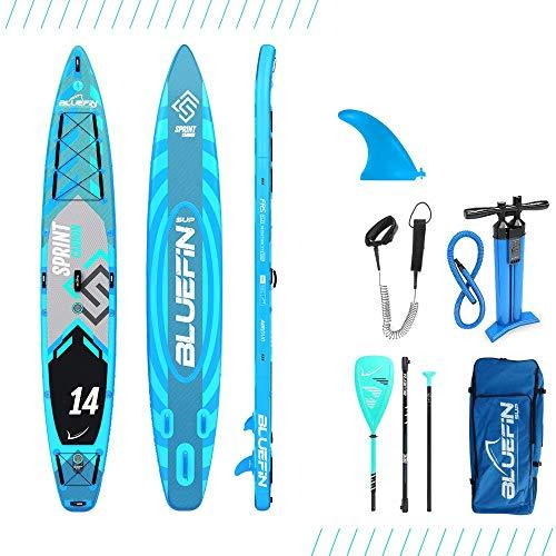 Bluefin Tabla de Stand Up Paddle Surf Sup Hinchable | Modelo Sprint De 14′ | Modelo Touring/Carrera