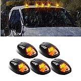 5 X Cab Marker Light, Smoke Lens Amber 9 LED Housing Cab Roof Running Lights, Top Clearance Light for 2003-2018 Dodge Ram 1500 2500 3500 4500 5500 Pickup Trucks