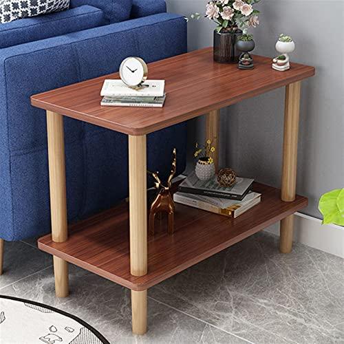 NICEDINING Soffbord lägenhet hem sidobord sovrum möbler låga bord nordiskt massivt trä soffa sidobord runt bord vardagsrum (färg: 60 x 40 x 53 cm C)