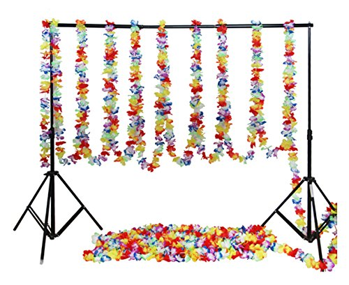 Fighting to Achieve 98ft Tropical Hawaiian Flower Lei Garland Hibiscus Flower Garlands for Party Decorations