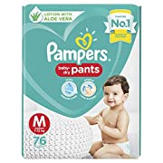 Pampers baby-dry pants style diapers are the only pants in India with Ultra Absorb Core, Double Leak Guards and Lotion with Aloe Vera Ultra Absorb Core – Locks in wetness with an inner layer of super absorbent Magic Gel that locks away wetness for up...