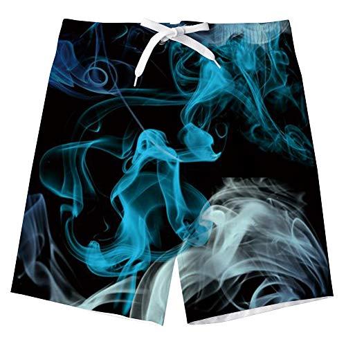 Idgreatim Jungen Badehose 3D Amerikanische Flagge Grafik Badehose Sport Lauf Badeanzug Board Shorts für Strand