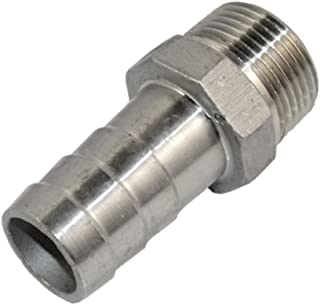 SS304 Thread Hose Pipe Fitting Male x Barb Hose Tail Stainless Steel Connector NPT (1