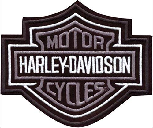 Patch Harley Davidson Modello Argento Bar & Shield cm 10,2 X 8,5 Replica -1309