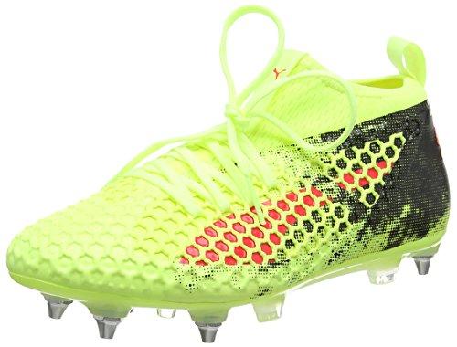 Puma Herren Future 18.2 Netfit Mx SG Fußballschuhe, Gelb (Fizzy Yellow-Red Blast Black), 44 EU