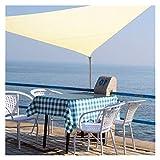 OZYN Triangular Toldo Vela, Resistente A Los Rayos UV Vela Solar para Patio, Exteriores, Jardín, Terraza Y Balcón Impermeable A Prueba De Viento (Color : Beige, Size : 2X2x2M)