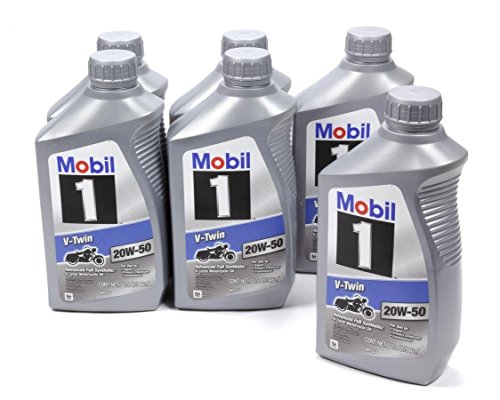 Mobil 1 V-Twin 20 W50 112630 Pack of 6 Quarts