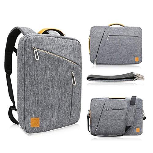 Hybrid Laptop Backpack Messenger Shoulder Bag Business Briefcase Travel Computer Bag for 12.3 Inch Surface Pro 7, Surface Pro X, Surface Laptop Go 12.4, iPad Pro 12.9