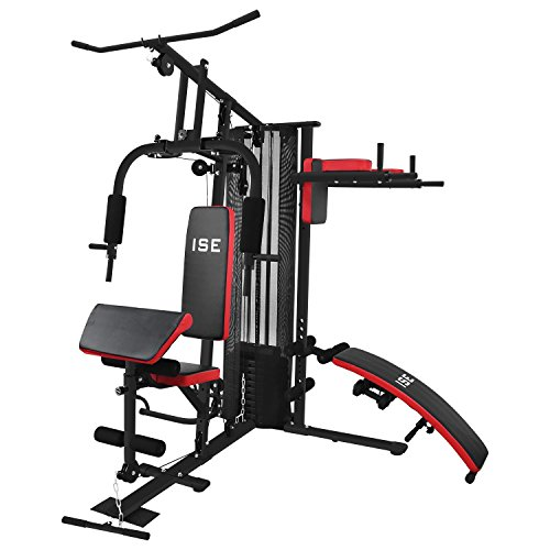 ISE 50en1 Station de Musculation Appareil de Musculation Fitness Multifonction Home Gym Station avec...