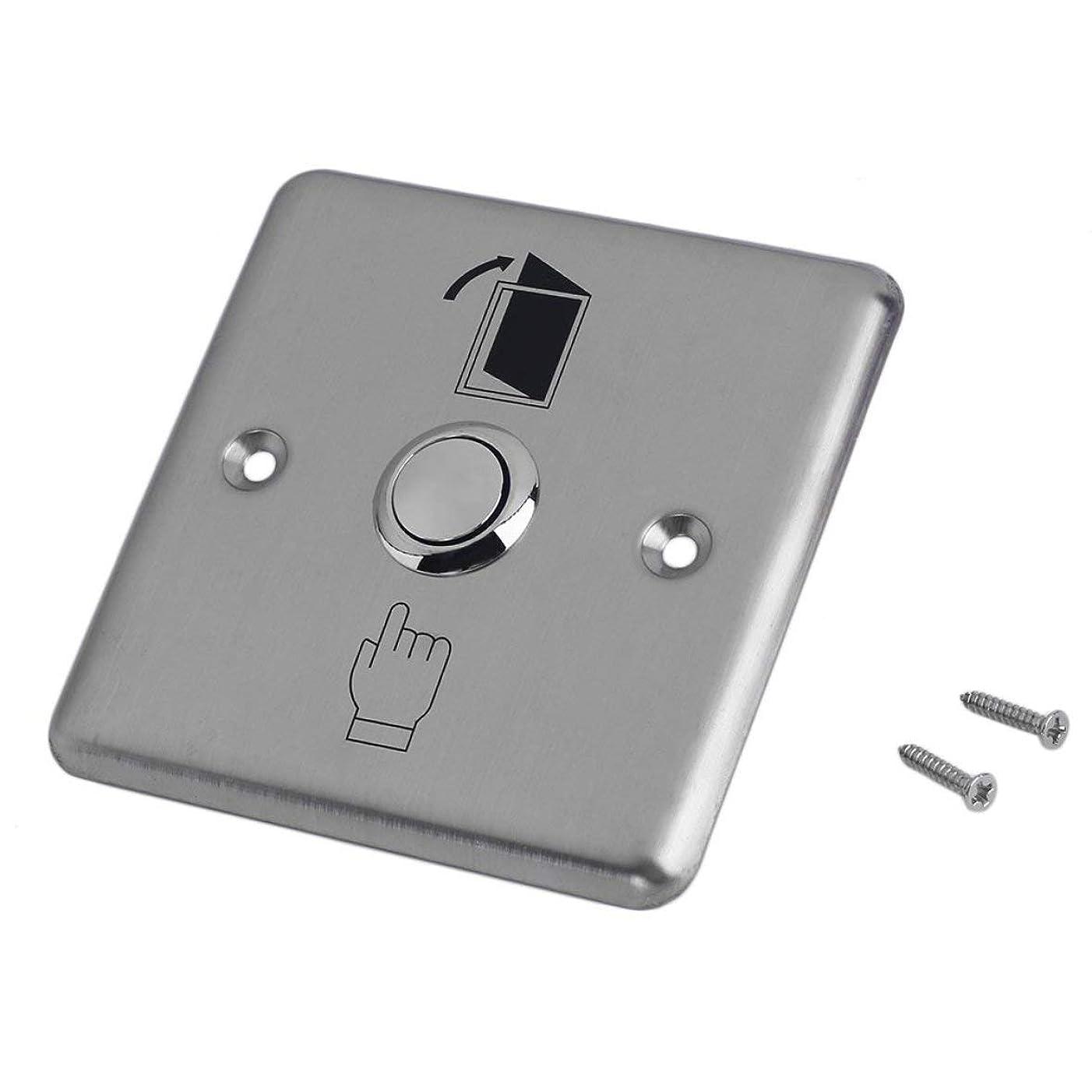 ワークショップアスレチックつまらないBlackfell ドアコントロールボタンスイッチステンレス鋼ホームハウスドア出口制御オープンリリースプッシュボタンスイッチK14ゲートオープナーアクセスグッドヘルパー