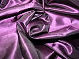 Uni Taft Kleid Stoff lila–Meterware + Gratis Minerva