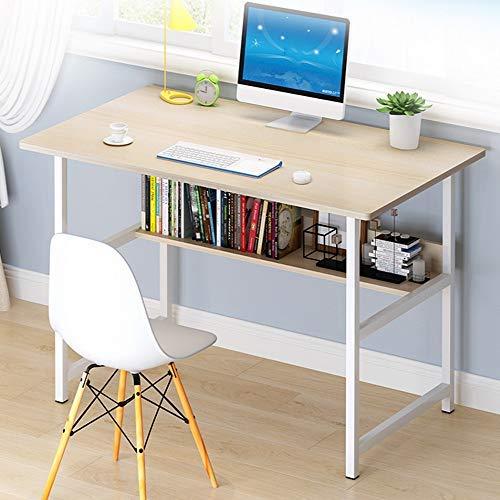 Embrace lifeシンプルワークデスク 平机 机 デスク パソコンテーブル オフィスデスク 幅80cm×奥行45cm ×74cm 組立簡単一人暮らし インテリア もみじ 勉強机