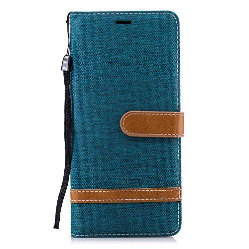 Lomogo Samsung Galaxy Note 9 / N960 Case, Leather Wallet Case with Kickstand Card Holder Shockproof Flip Case Cover for Samsung Galaxy Note9 - LOBFE12765 Green