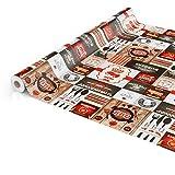 ANRO Wachstuch Tischdecke abwaschbar Wachstuchtischdecke Wachstischdecke BBQ Grill Garten Rot Oval 200x140cm - 4
