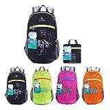 EGOGO impermeabile pieghevole Packable Escursionismo viaggio zaino scuola borsa zaino per le ragazze, ragazzi, College gli studenti S2016 (Nero)