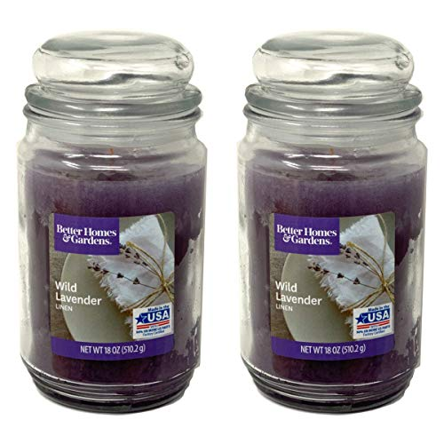 Better Homes Gardens 18oz Scented Candle, Wild Lavender Linen 2-Pack