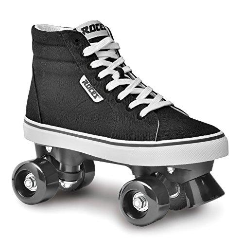 Roces Erwachsene Ollie Rollerskates/Rollschuhe Street, schwarz-Weiß, 45