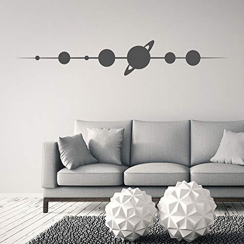 Planet Space Sticker mural en vinyle pour chambre d'enfant 14 x 88 cm