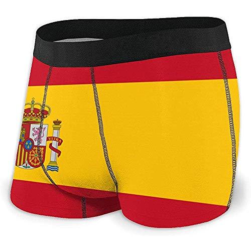 Web--ster Calzoncillos bóxer para Hombre Ropa Interior con Bandera de España Calzoncillos cómodos y Elegantes