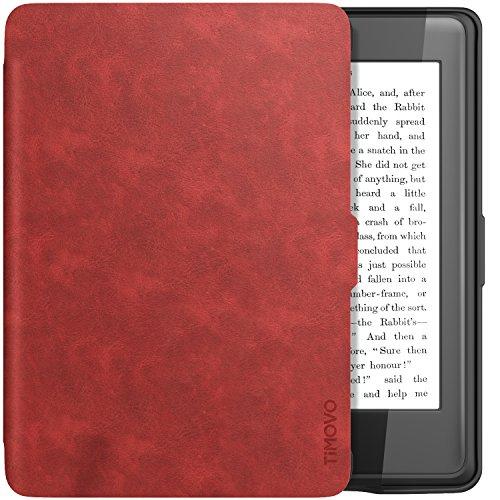 TiMOVO Kindle Paperwhite Funda - Cubierta de Suave TPU Anti-Rasguños Protector con Auto Sueño/Estela para Amazon Kindle Paperwhite (Cabe 2012, 2013, 2015 and 2016 Version) Tableta - Rojo