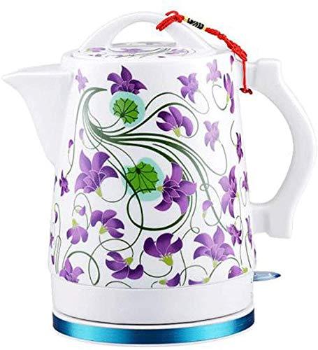 Mnjin Haushaltskeramik-Wasserkocher Akku-Wasser-Teekanne Automatische Abschaltung Schnell kochend China Vintage Style 1.6L