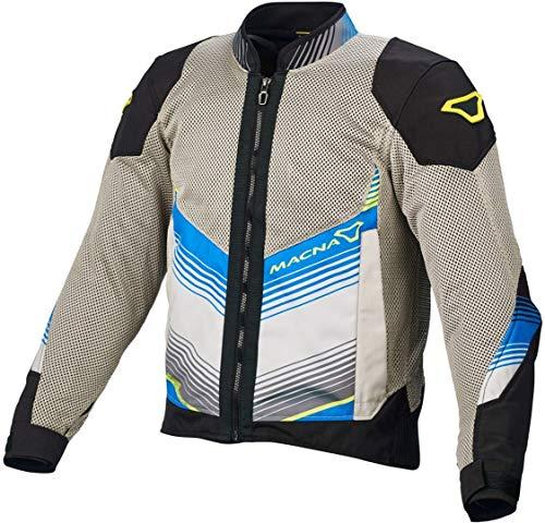 Macna Rewind motorjas textiel Medium lichtgrijs-blauw