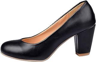 SUCREVEN Femmes Robe Chaussures Classique Escarpins Bloc Escarpins Chaussures